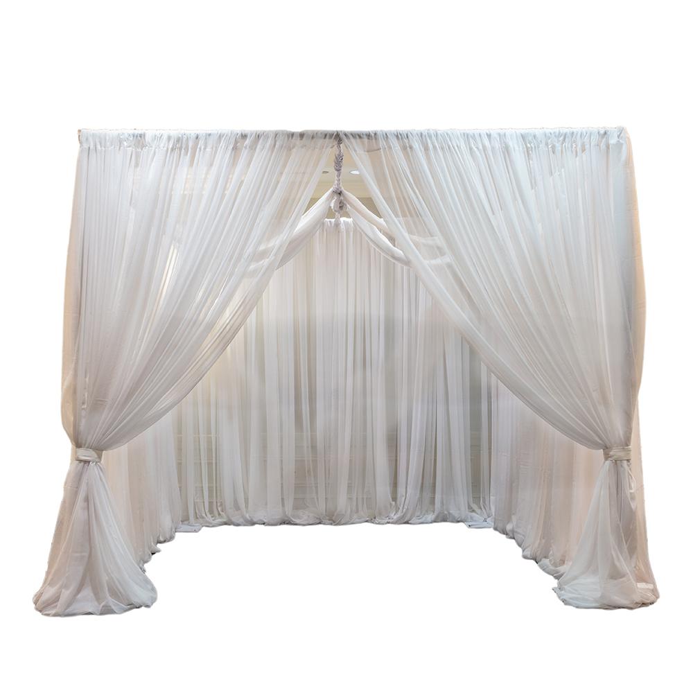 White drapery cabana for rent