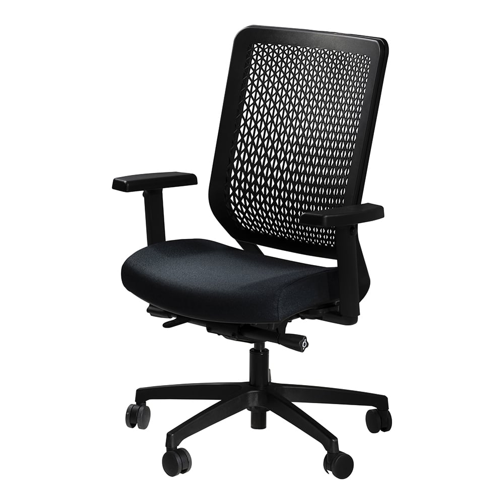 Black mid-back executive conference and meeting chair for rent