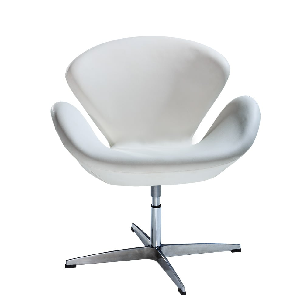 Iconic swan shaped white swivel chair for stage meeting or event