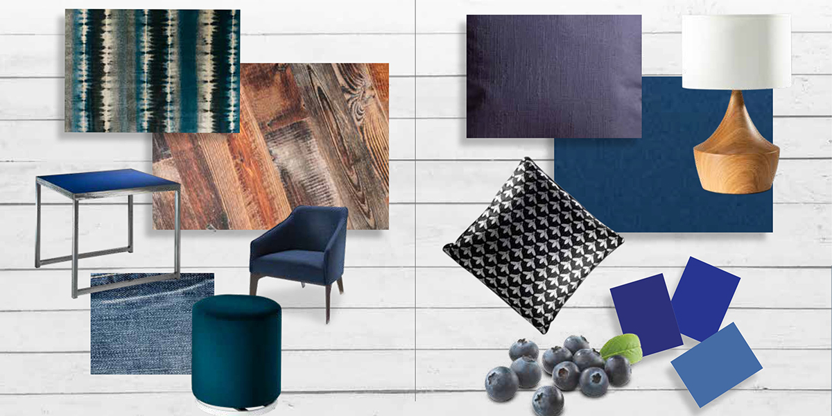 Blue products and textures